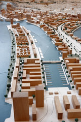 Hamburg  Deutschland  Stadtmodell von Hamburg