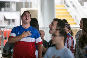 (SP)US-NEW YORK-WORLD CUP 2014-FANS-CELEBRATION