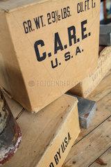Berlin  Deutschland  Care-Pakete auf dem ehemaligen Tempelhofer Flughafen