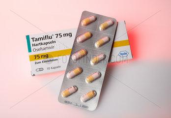 Berlin  Deutschland  das Medikament Tamiflu mit dem Wirkstoff Oseltamivir