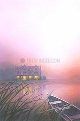 England Cottage Boot Nacht