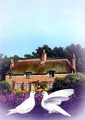 England Cottage Taubenpaerchen