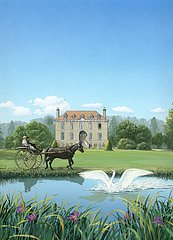 England Schloss Kutsche