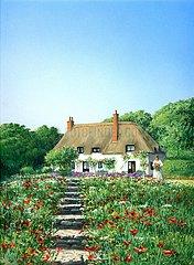 England Cottage Blumenwiese Sommer