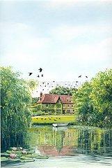 England Landhaus Park mit See