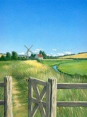 England Landschaft Windmuehle