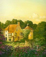 England Cottage Abendstimmung Romantik