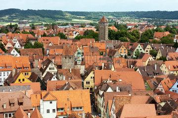 Rothenburg ob der Tauber  Deutschland  Blick vom Rathausturm auf die Altstadt