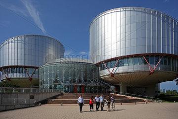 Strassburg  Frankreich  Eingangsbereich des Europaeischen Gerichtshof fuer Menschenrechte