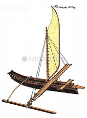 Serie Schiffe Auslegerboot Tahiti