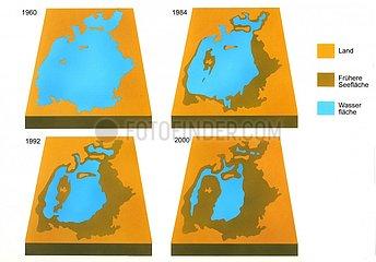 Karte Verlandung Aralsee