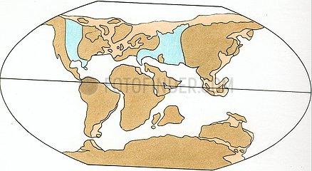 Kontinentenverschiebung 4 Mittlere Kreide