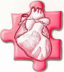 Serie Puzzleteil Herz