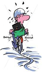 Radfahren im Eis
