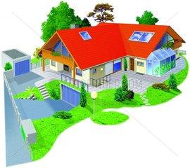Haus mit Hofanlage