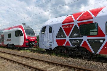 Deutschland  elektrischer Doppelstocktriebwagenzug und DB Regio Rheinland Pfalz