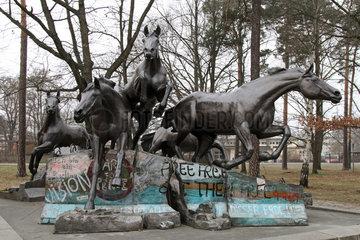 Berlin  Deutschland  Denkmal Der Tag an dem die Mauer fiel