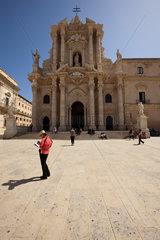 Syrakus  Italien  die Kathedrale von Syrakus