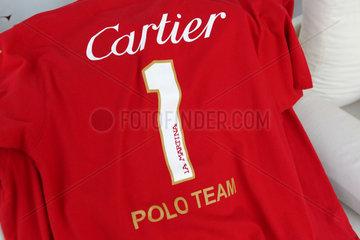 Dubai  Vereinigte Arabische Emirate  Trikot des Cartier Polo Team