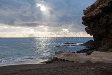 Ajuy  Spanien  Blick auf das Meer auf der Kanareninsel Fuerteventura