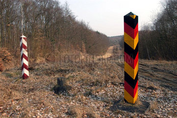 deutsch-polnische Grenze bei Linken/Brandenburg