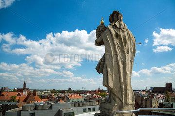 Breslau  Polen  Blick ueber die Stadt