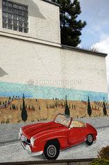 rotes Auto Wandbild