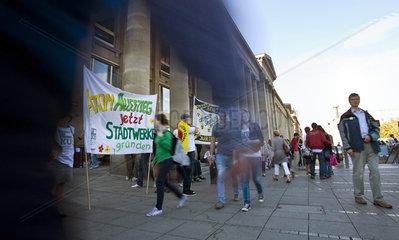 Antiatomkraft Demonstration  Stuttgart