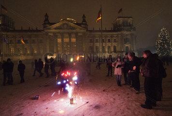 Neujahr am Reichstag in Berlin
