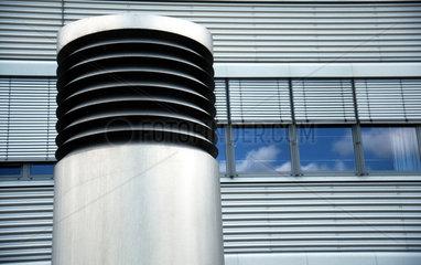 Abluftschacht einer Klimaanlage