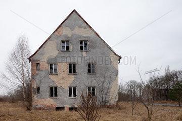 Zossen  Deutschland  verlassenes Gebaeude auf dem ehemaligen Kasernengelaende der Sowjetarmee