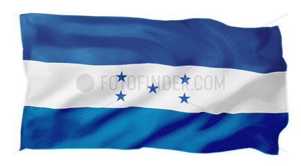 Fahne von Honduras (Motiv B; mit natuerlichem Faltenwurf)