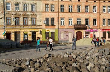 Lemberg  Ukraine  Erneuerung eines Platzes