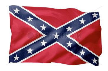 Suedstaatenflagge (Motiv A; mit natuerlichem Faltenwurf und realistischer Stoffstruktur)