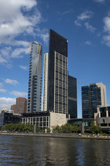 Melbourne  Australien  Southbank am Yarra River mit dem Eureka Tower