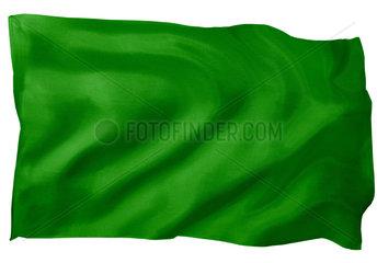 Fahne von Lybien (Motiv B; mit natuerlichem Faltenwurf und realistischer Stoffstruktur)