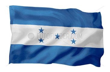 Fahne von Honduras (Motiv A; mit natuerlichem Faltenwurf und realistischer Stoffstruktur)