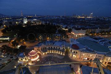 Riesenrad Prater Wien bei Nacht