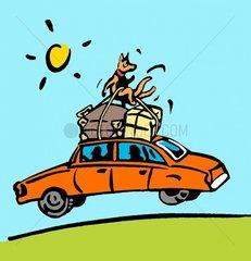 Ferienfahrt im Auto