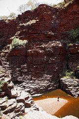 Tom Price  Australien  die Joffre Gorge Schlucht im Karijini Nationalpark