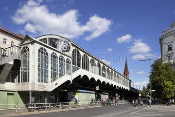 Berlin  Deutschland  Goerlitzer Bahnhof der U-Bahnlinie 1 in der Skalitzer Strasse