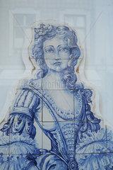 Portrait auf Azulejo