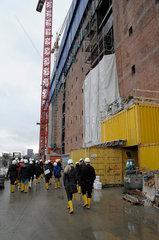 Elbphilharmonie Hamburg  Suedfassade des Kaispeicher A