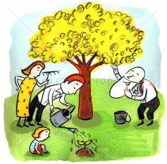Geldbaum Altersvorsorge