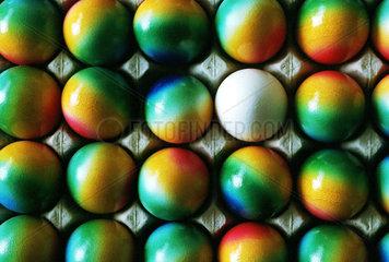 Die sogenannten Regenbogeneier sind noch relativ neu auf dem Markt.