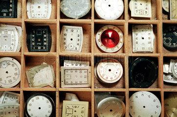 Zifferblaetter von Armbanduhren
