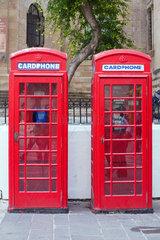 Valletta  Republik Malta  alte rote Telefonzellen