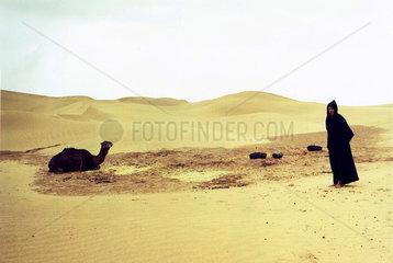 Marokko  Berber in der Sahara