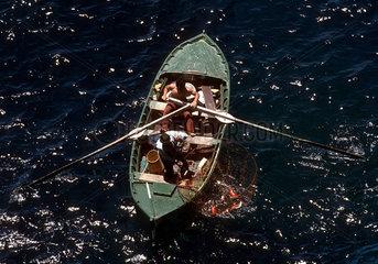 Teneriffa - Fischer am Punta del Teno