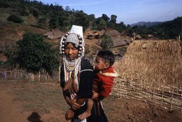 Dorfbewohnerin im Norden von Thailand